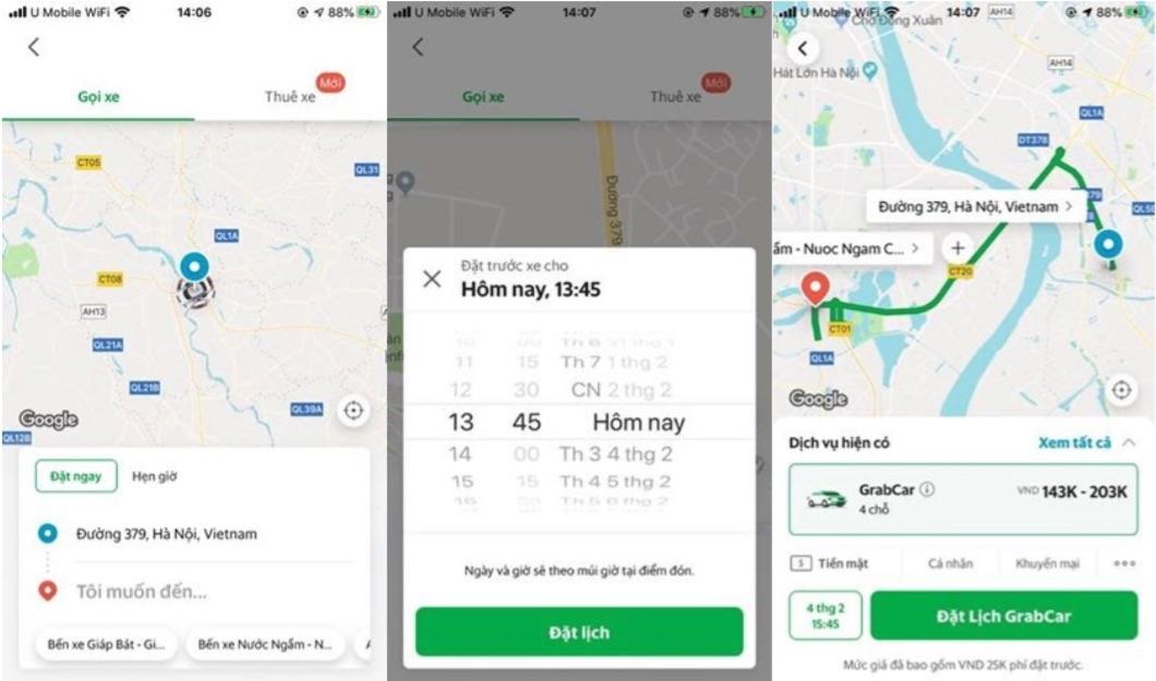 Grab thử nghiệm Chuyến Xe Hẹn Giờ cho dịch vụ GrabCar tại Hà Nội