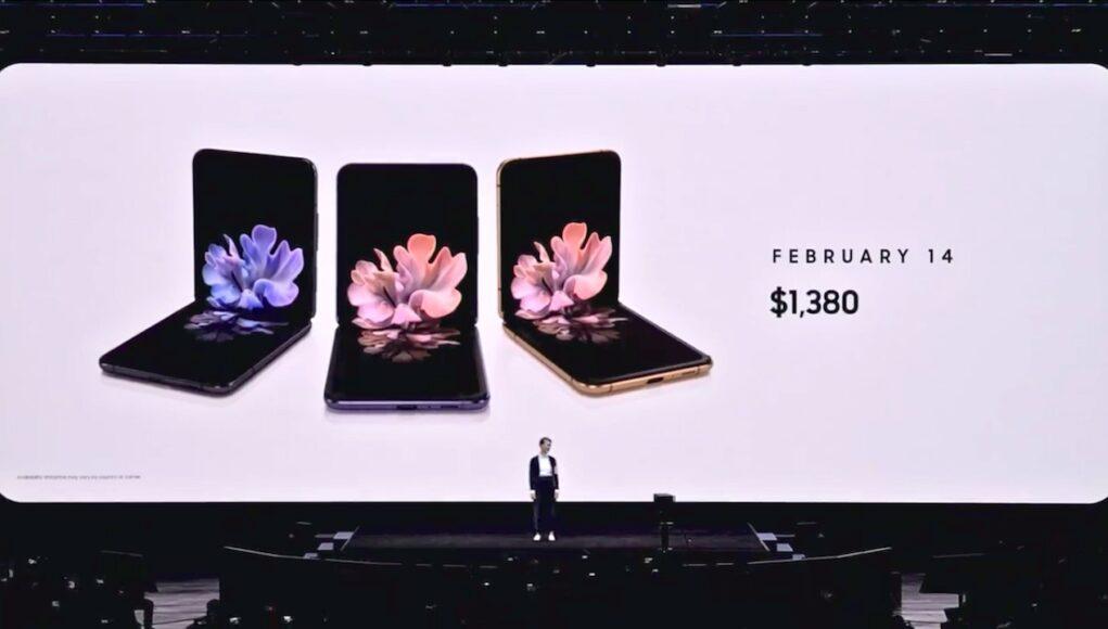 Samsung Galaxy Z Flip ra mắt, giá 1380 USD