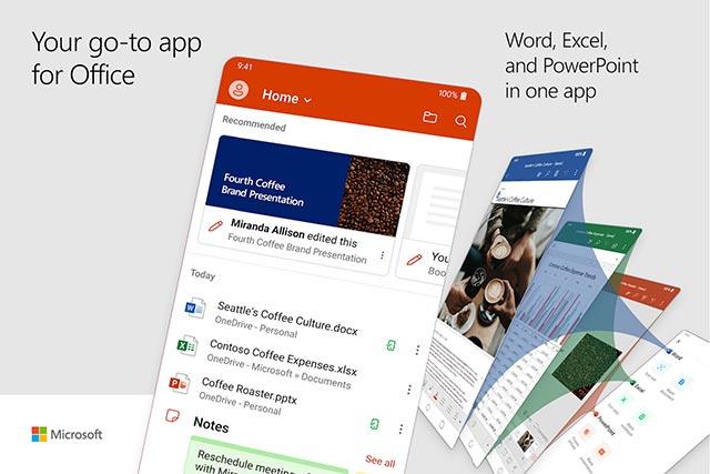 Đã có ứng dụng Microsoft Office đa năng, hợp nhất Word, Excel và PowerPoint trên Android