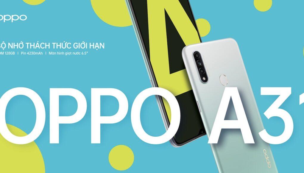 OPPO A31 lên kệ: 3 camera, bộ nhớ 128GB, pin 4230mAh, giá 4,5 triệu đồng