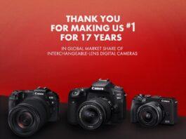 Canon dẫn đầu thị trường máy ảnh số dùng ống kính chuyển đổi toàn cầu