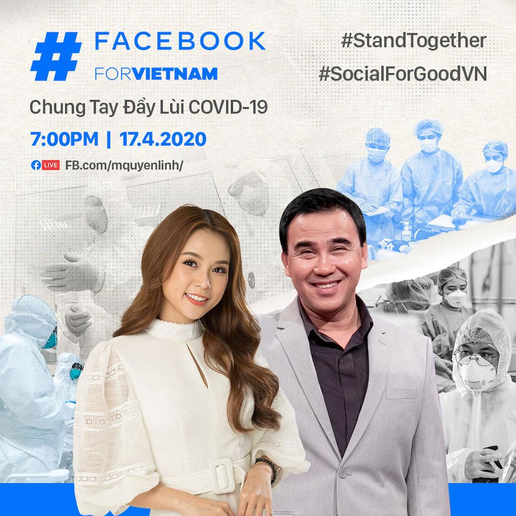 Facebook ra mắt chương trình livestream #SocialForGoodVN - Chung tay đẩy lùi COVID-19