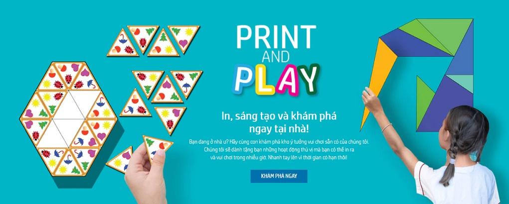 Giải pháp HP Print & Play giúp trẻ vừa học vừa chơi tại nhà