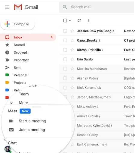 Google sẽ tích hợp dịch vụ Meet vào Gmail, mở rộng chế độ xem tối đa 16 người dùng