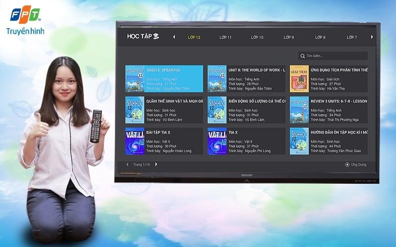 Truyền hình FPT ra mắt ứng dụng Học Tập với kho bài giảng đa dạng và phong phú