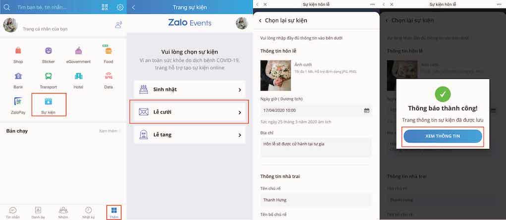 Zalo ra mắt tính năng sự kiện trực tuyến trong mùa COVID-19