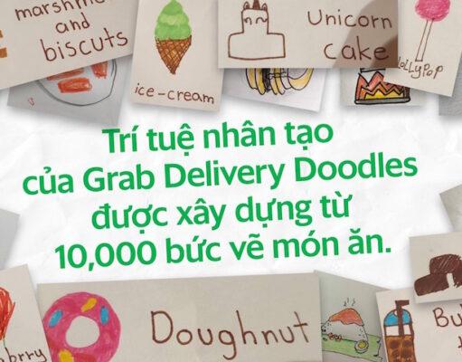 Grab ra mắt Delivery Doodles, dùng AI của Google biến nét vẽ thành món ăn giao tận tay