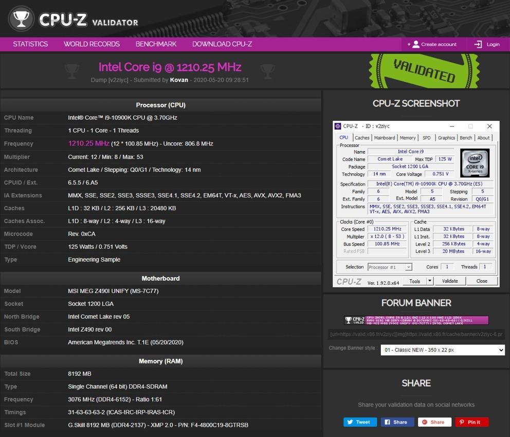 MSI ra mắt hai bo mạch chủ phục vụ ép xung Z490