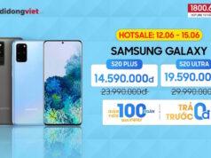 Di Động Việt bán Galaxy S20 Plus, S20 Ultra giảm giá đến 10,4 triệu trong 4 ngày