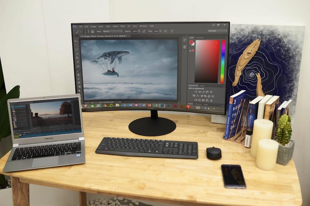 Samsung giới thiệu màn hình T55 độ cong 1000R, giá từ 6,4 triệu đồng