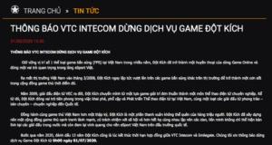 Game Đột Kích do VTC Games phát hành sẽ ngừng cung cấp từ 1/7