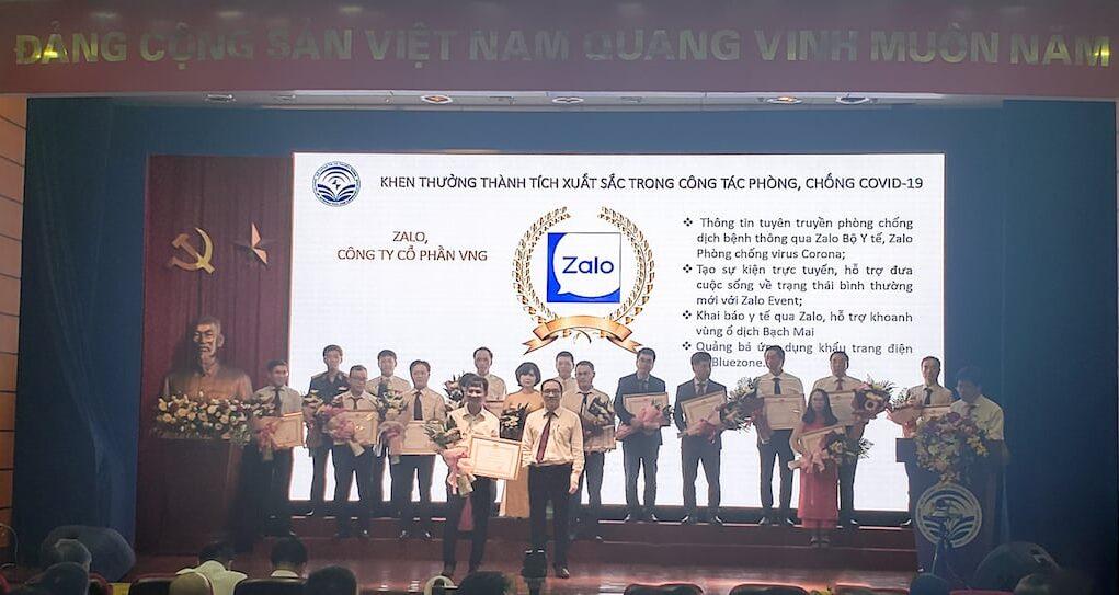 Zalo được Bộ trưởng Bộ Thông tin và Truyền thông khen thưởng trong cuộc chiến chống COVID-19