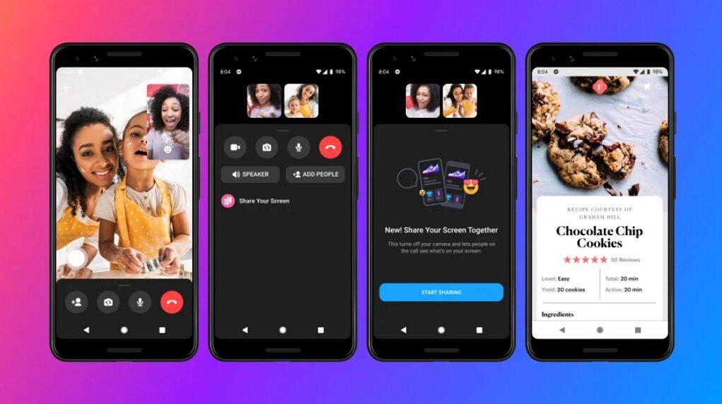 Facebook bổ sung tính năng chia sẻ màn hình lên Messenger của iOS và Android