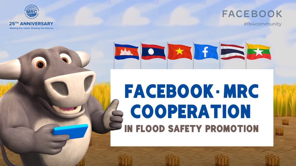 Facebook cung cấp thông tin lũ lụt và hạn hán khu vực Mê Công