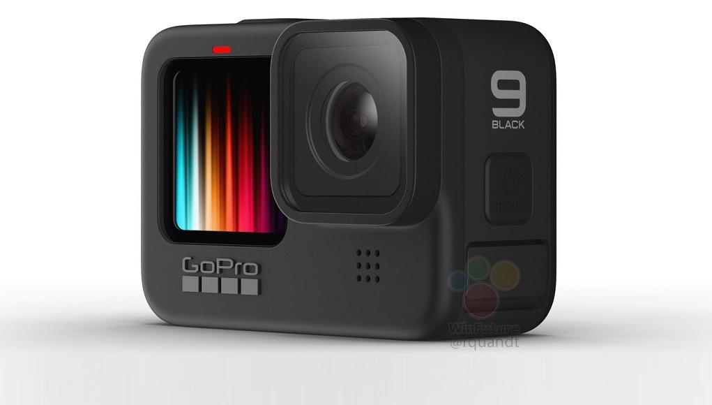 Rò rỉ hình ảnh GoPro Hero 9 Black, màn hình màu mặt trước, quay video 5K