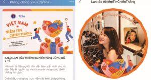 Hàng triệu người Việt thay avatar Zalo thể hiện tinh thần chống dịch COVID-19