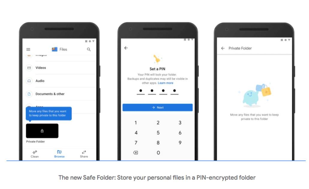 Ứng dụng Google Files thêm tính năng đặt mật khẩu cho 'thư mục an toàn'
