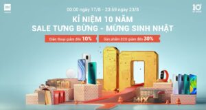 Xiaomi tổ chức khuyến mãi mừng chặng đường 10 năm thành lập