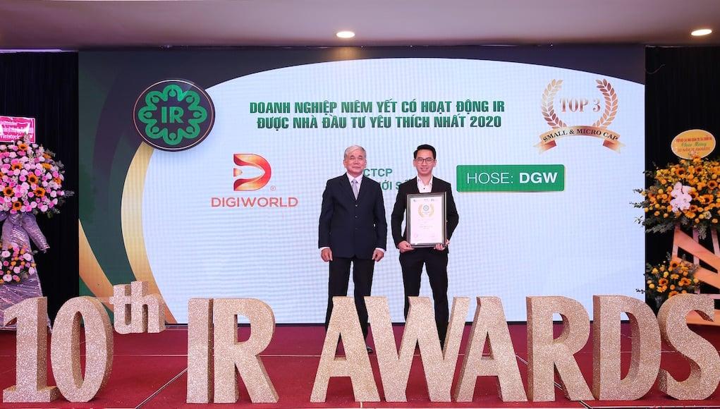 Digiworld vào top 3 doanh nghiệp niêm yết được bình chọn cao nhất