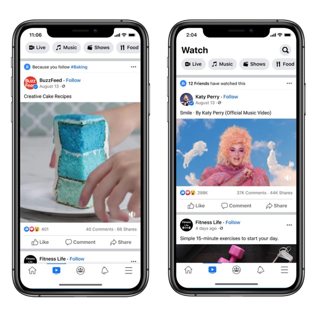 Facebook Watch ghi nhận hơn 1,25 tỷ người dùng hàng tháng