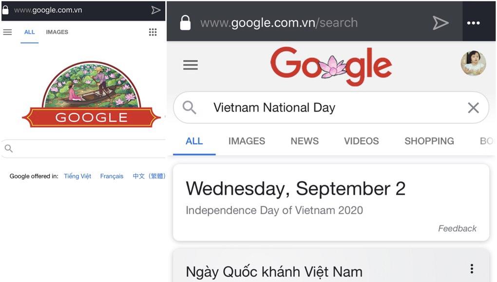 Google Doodle mới mừng Quốc khánh Việt Nam 2020