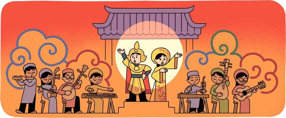Google Doodles tôn vinh ngày giỗ tổ Sân khấu cải lương