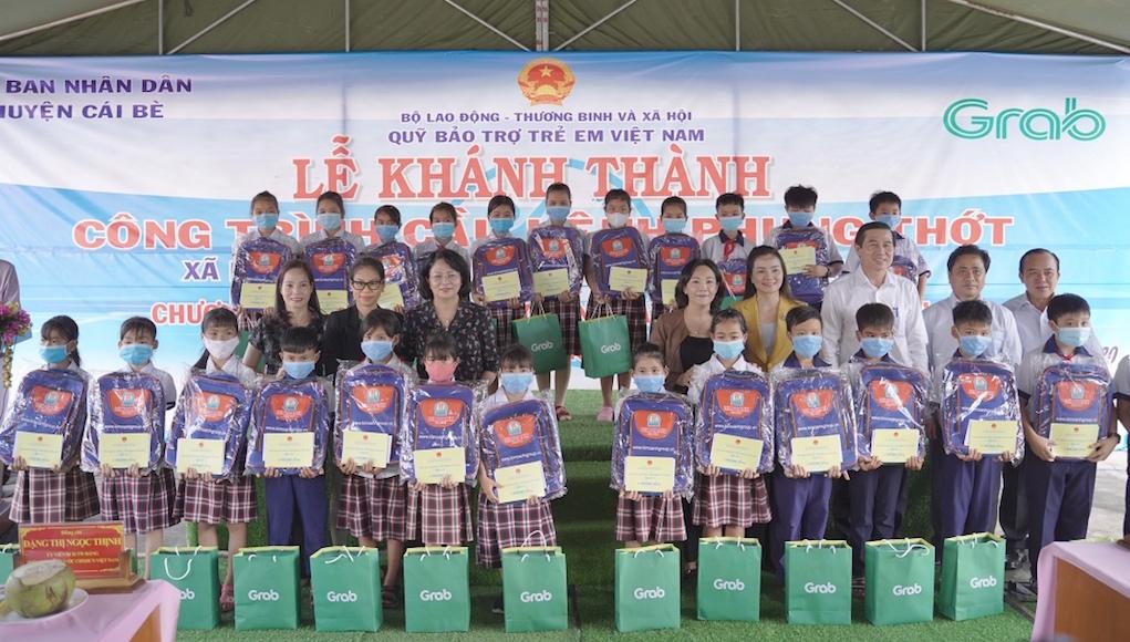 Grab và Quỹ Bảo trợ trẻ em Việt Nam khánh thành cây cầu thứ ba