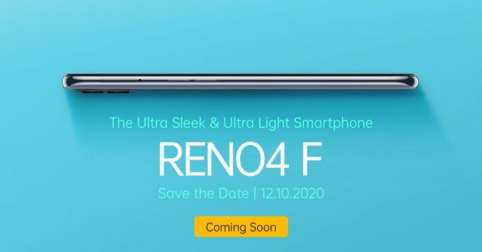 OPPO Reno4 F ra mắt vào ngày 12/10 tại Indonesia