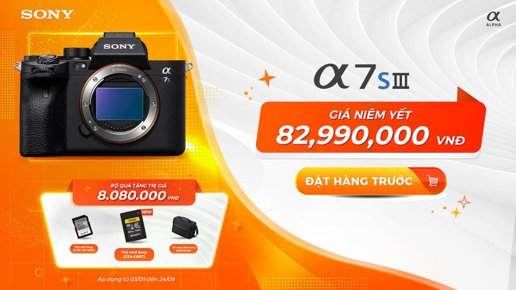 Sony Alpha 7S III ra mắt thị trường Việt, giá 83 triệu đồng