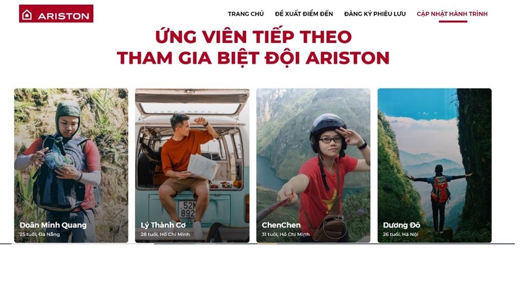Biệt đội Ariston hé lộ thông tin đầu tiên trong hành trình xuyên Việt