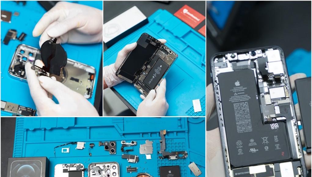 Điện Thoại Vui tháo và khám phá linh kiện iPhone 12 Pro