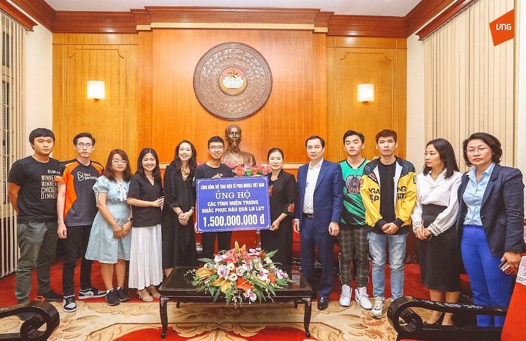 Cộng đồng eSport PUBG Mobile ủng hộ đồng bào miền Trung 1,5 tỷ đồng
