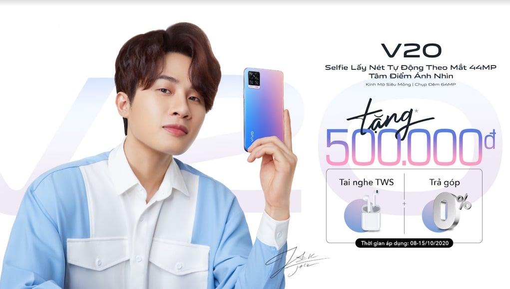 Vivo V20 mở đặt cọc từ 8/10, nghệ sĩ Jack làm gương mặt đại diện