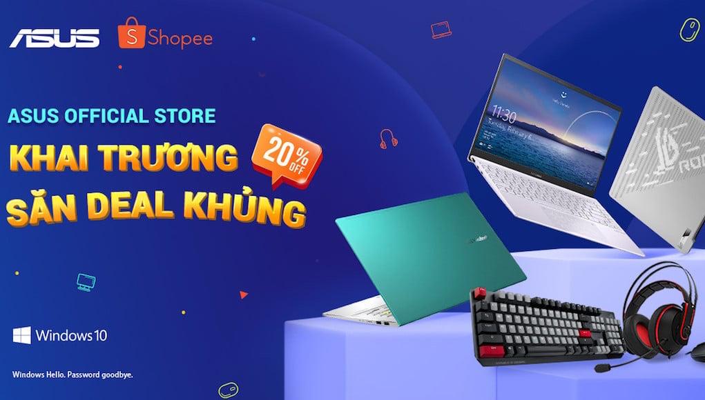 Khai trương gian hàng ASUS Official Store trên Shopee