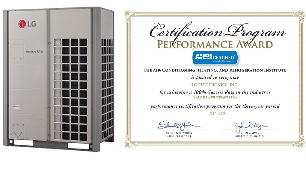 Lần thứ ba liên tiếp LG nhận giải thưởng AHRI