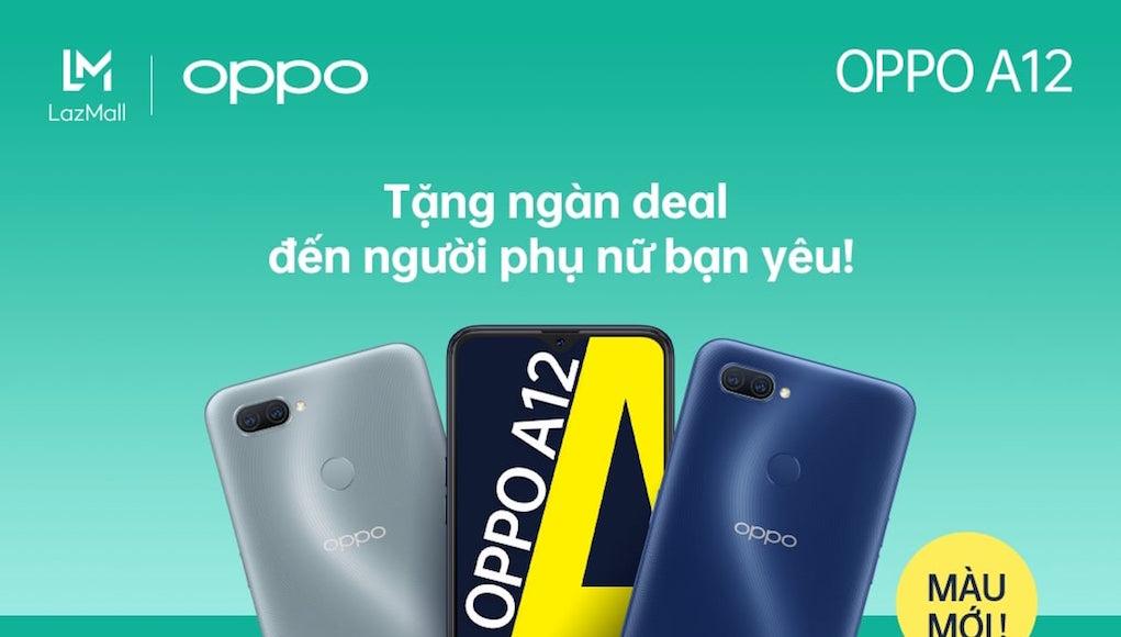 OPPO A12 có hai màu mới, bán độc quyền trên Lazada vào Ngày Phụ nữ Việt Nam