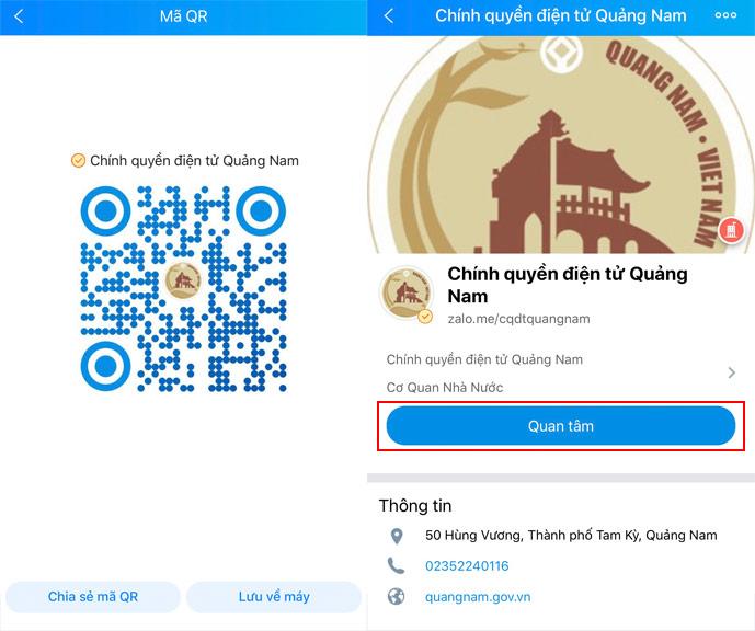Quảng Nam sử dụng Zalo cập nhật tình hình và cách ứng phó mưa lũ