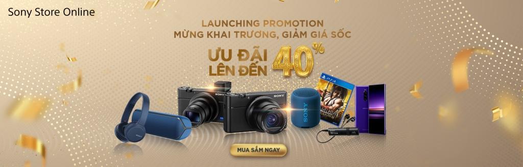 Ra mắt Sony Store Online với nhiều ưu đãi lớn