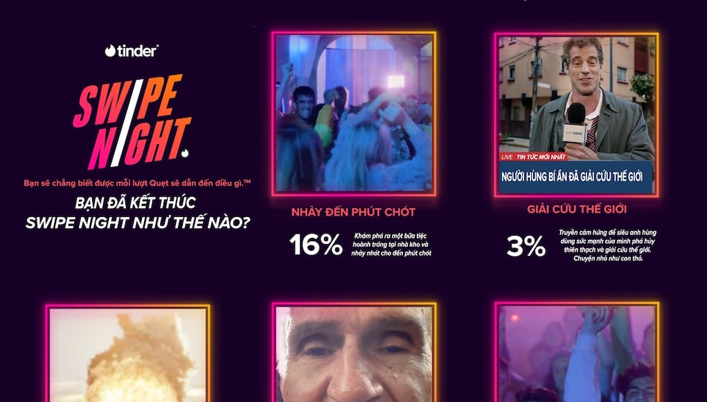 Tinder Swipe Night tiết lộ xu hướng của Gen Z Việt Nam