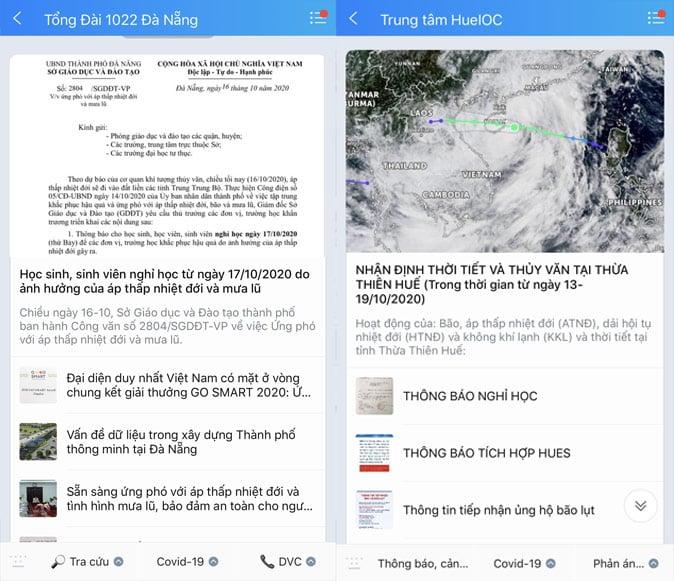 Tổng cục Phòng chống thiên tai thông tin khẩn về tình hình mưa lũ trên Zalo