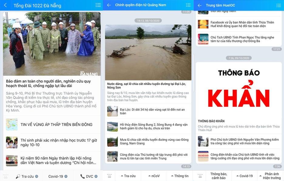 Người dân miền Trung theo dõi diễn biến mưa lũ qua Zalo