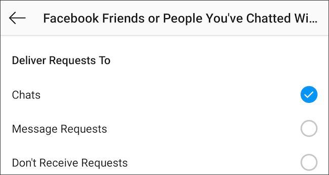 Chặn người dùng Facebook gửi tin nhắn cho bạn trên Instagram
