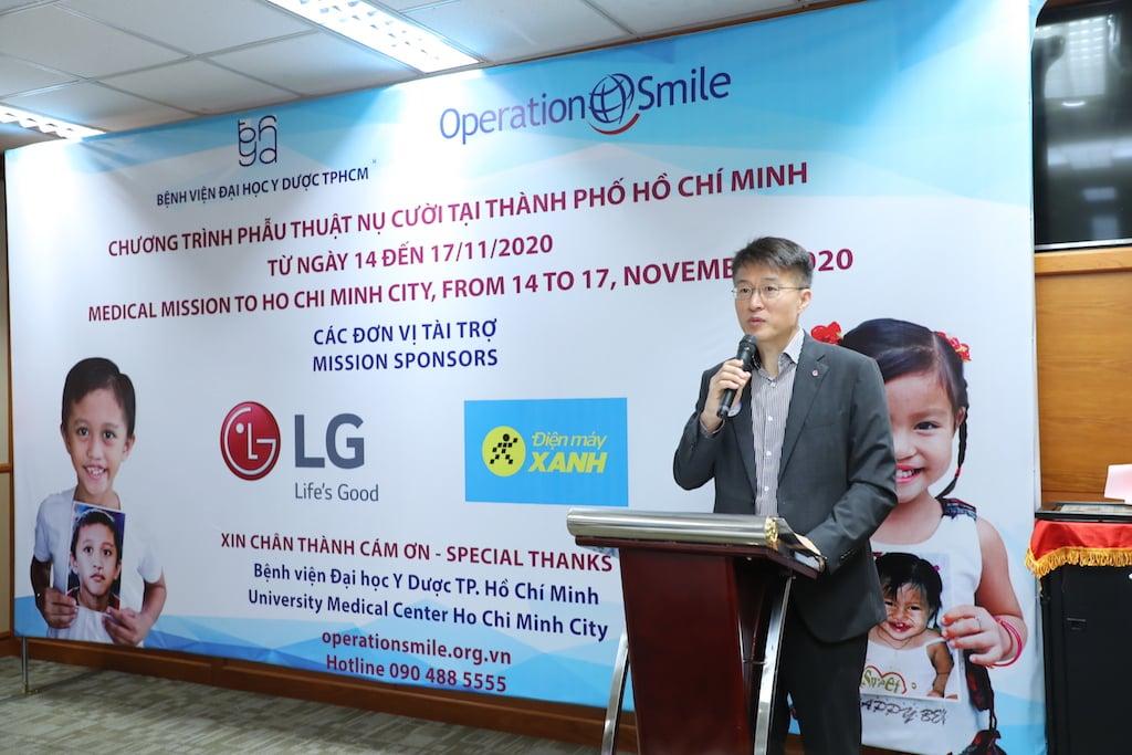 LG cùng Điện Máy Xanh đồng hành cùng các em nhỏ bị dị tật hàm mặt