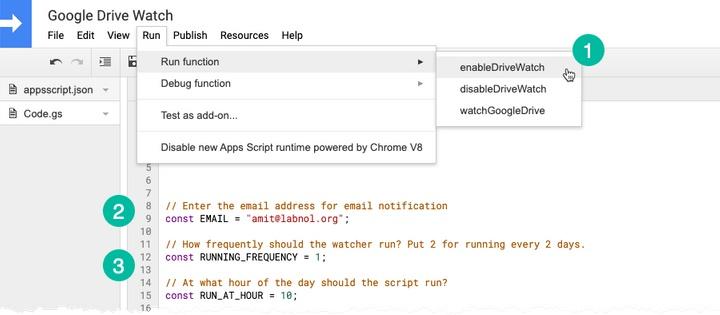 Nhận thông báo qua email khi tập tin trong Google Drive bị xóa