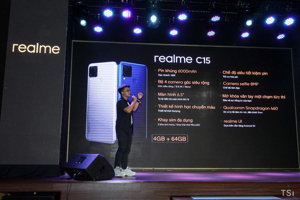 Realme C15 ra mắt tại sự kiện tri ân realfans, giá 4,2 triệu đồng