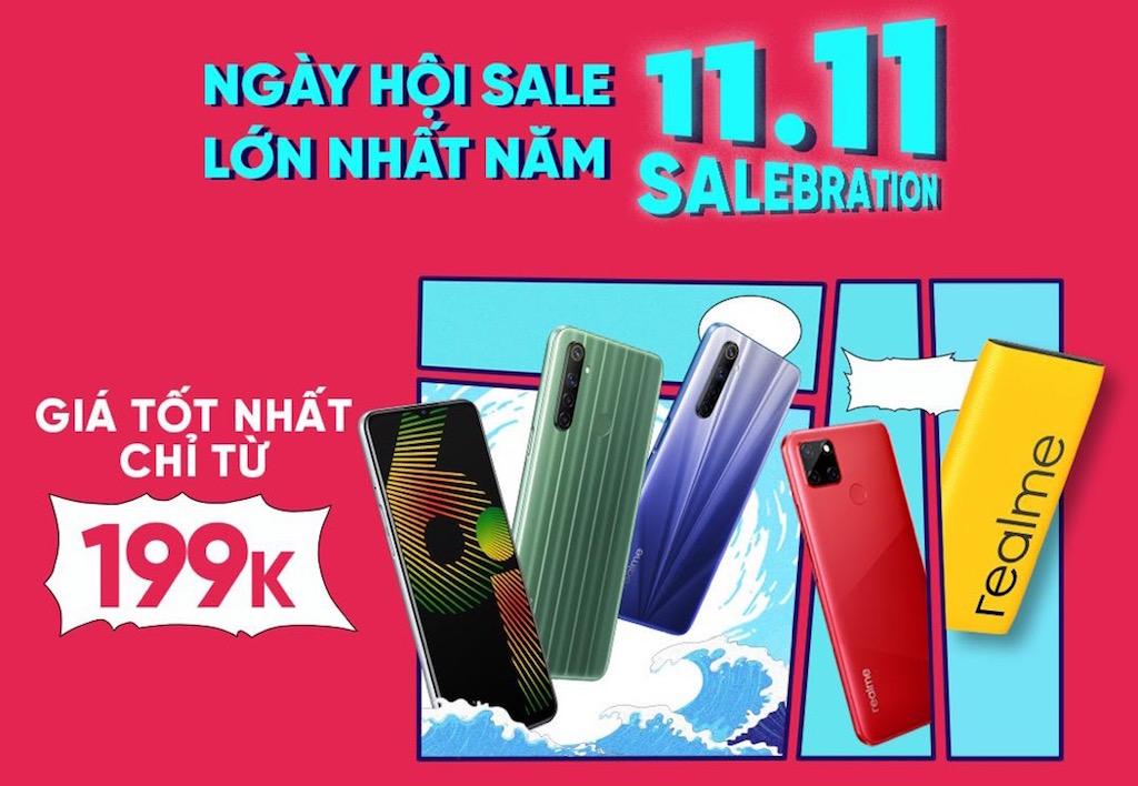 Realme tung chương trình ưu đãi ngày hội siêu sale 11/11