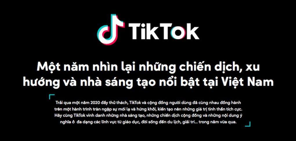 TikTok công bố Bảng Tổng kết Year on TikTok 2020