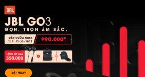 Đã có thể đặt hàng loa JBL Go 3, giá 990 ngàn đồng