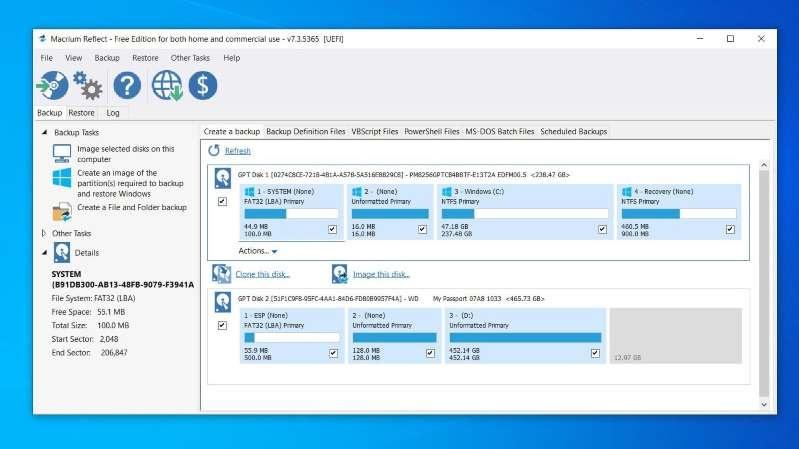 Sao lưu toàn bộ ổ cứng máy tính Windows