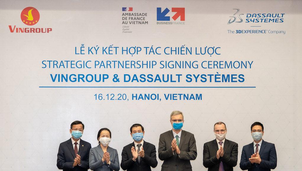 VinGroup hợp tác chiến lược Dassault Systèmes thúc đẩy chuyển đổi số